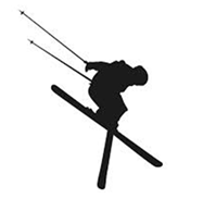 skifahrer silhouette